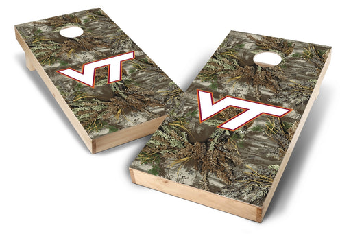 Virginia Tech Hokies 2x4 Cornhole Board Set - Realtree Max-1 Camo