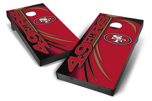 San Francisco 49ers 2x4 Cornhole Board Set Onyx Stained - Spiral