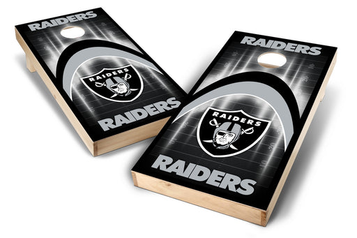 Oakland Raiders 2x4 Cornhole Board Set - Arch