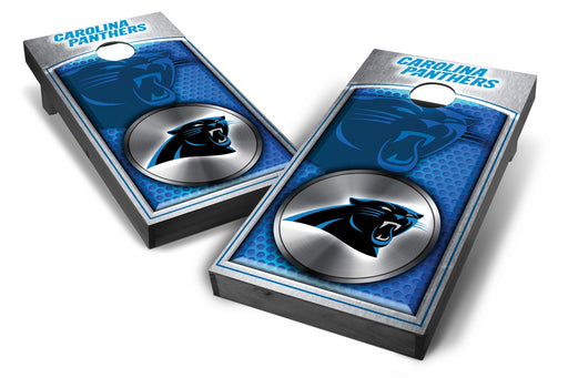 Carolina Panthers 2x4 Cornhole Board Set Onyx Stained - Medallion