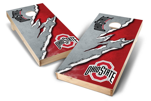 Ohio State Buckeyes 2x4 Cornhole Board Set - Ripped