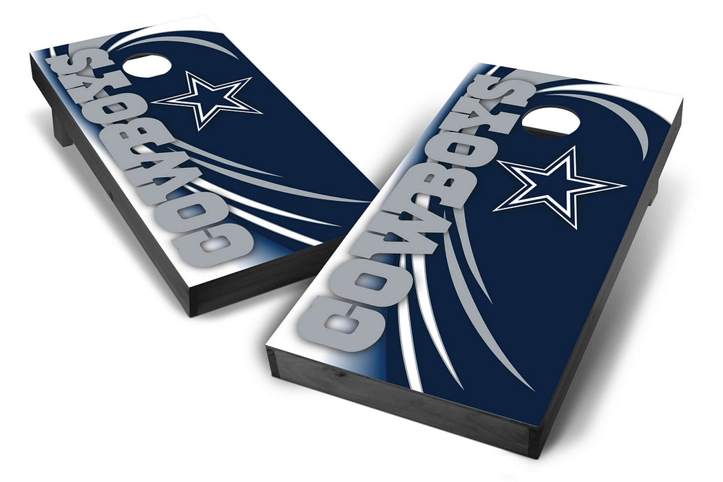 Dallas Cowboys 2x4 Cornhole Board Set Onyx Stained - Spiral