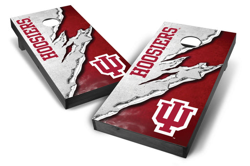 Indiana Hoosiers 2x4 Cornhole Board Set Onyx Stained -  Ripped