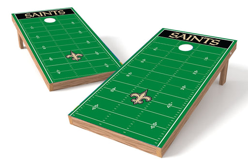 New Orleans Saints 2x4 Cornhole Board Set - Field