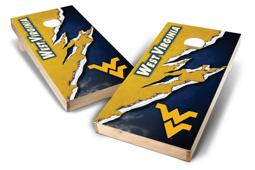 WVU Mountaineers 2x4 Cornhole Board Set - Ripped