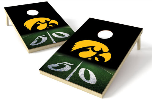 Iowa Hawkeyes 2x3 Cornhole Board Set - 50 Yard Line