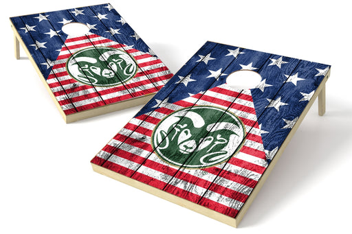 Colorado State 2x3 Cornhole Board Set - American Flag
