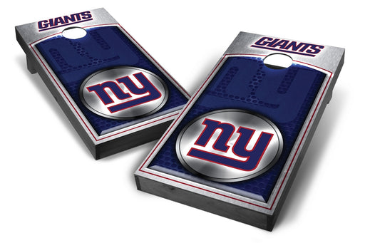 New York Giants 2x4 Cornhole Board Set Onyx Stained - Medallion