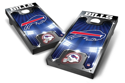 Buffalo Bills 2x4 Cornhole Board Set Onyx Stained - Plate