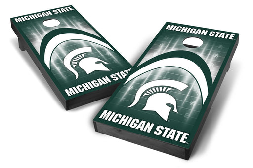 Michigan State Spartans 2x4 Cornhole Board Set Onyx Stained - ArCH