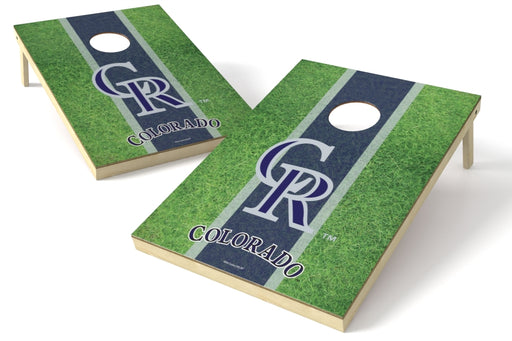 Colorado Rockies 2x3 Cornhole Board Set - Field