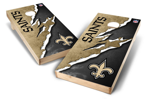 New Orleans Saints 2x4 Cornhole Board Set - Ripped