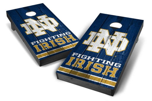 Notre Dame Fighting Irish 2x4 Cornhole Board Set Onyx Stained - Vintage
