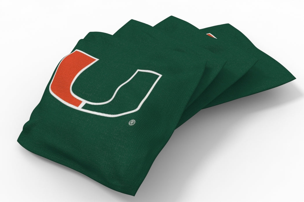 Miami Hurricanes 2x4 Cornhole Board Set - Logo