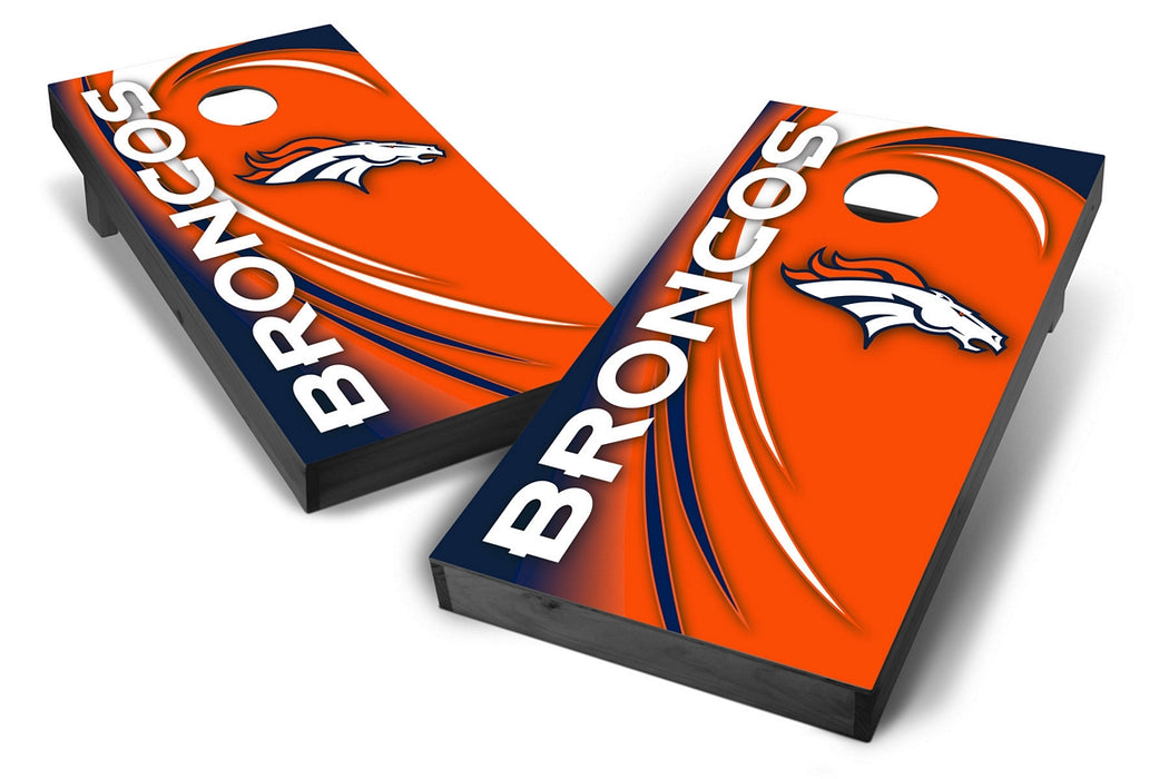 Denver Broncos 2x4 Cornhole Board Set Onyx Stained - Spiral