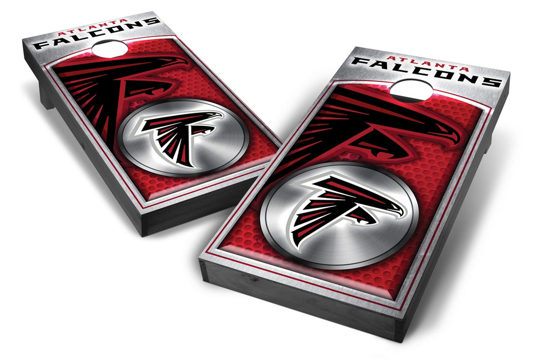 Atlanta Falcons 2x4 Cornhole Board Set Onyx Stained - Medallion