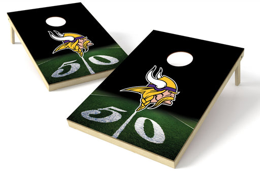 Minnesota Vikings 2x3 Cornhole Board Set - 50 Yard Line