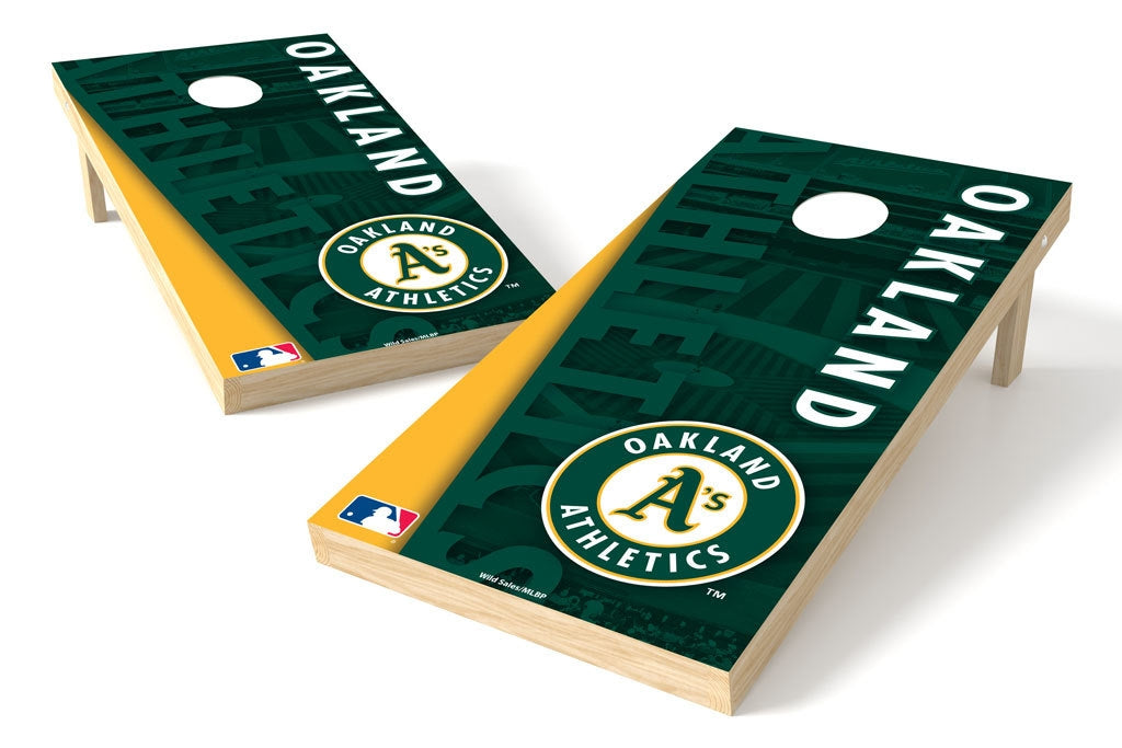 Oakland Athletics 2x4 Cornhole Board Set - Logo