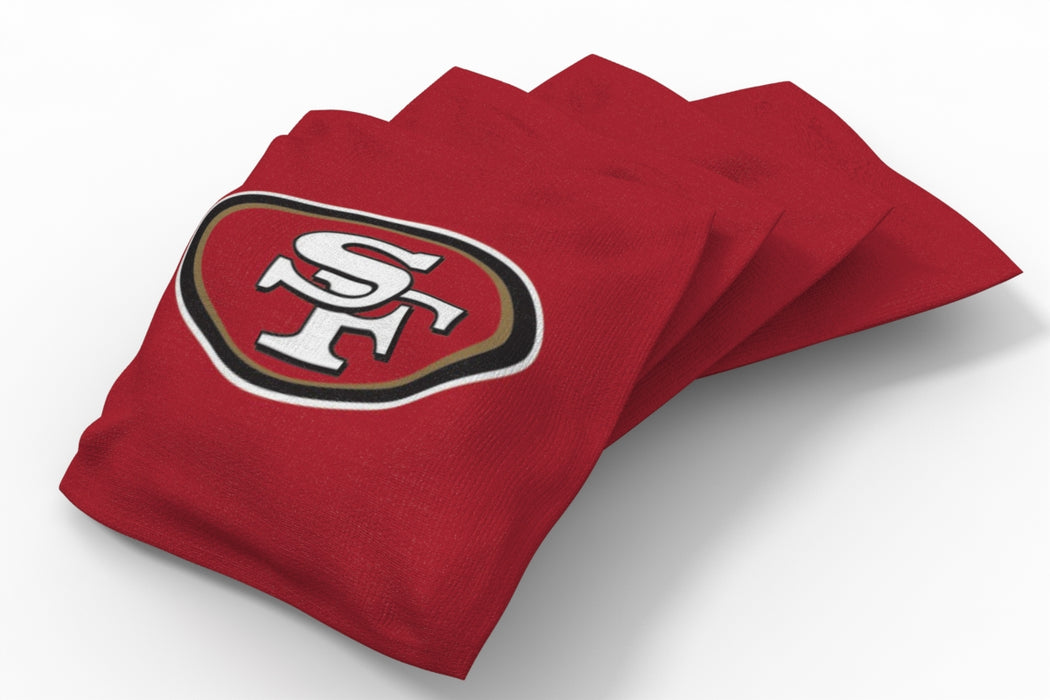 San Francisco 49ers 2x4 Cornhole Board Set - Logo