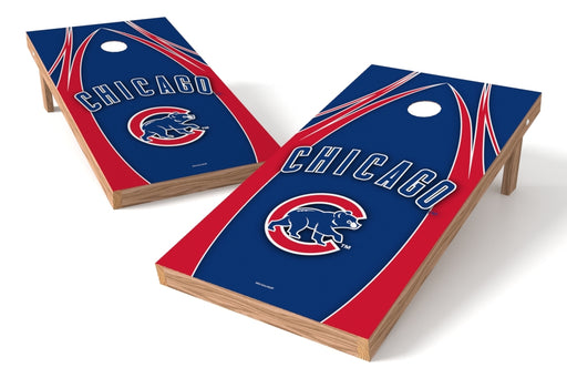 Chicago Cubs 2x4 Cornhole Board Set - Edge
