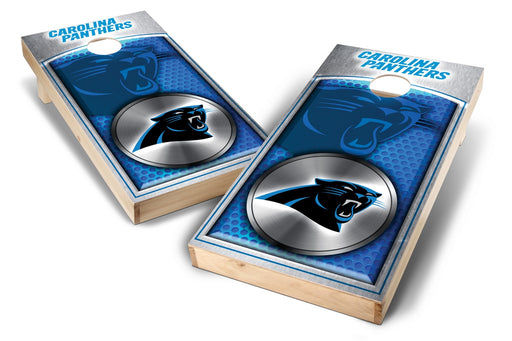 Carolina Panthers 2x4 Cornhole Board Set - Medallion