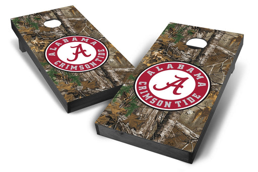Alabama Crimson Tide 2x4 Cornhole Board Set Onyx Stained - Xtra Camo