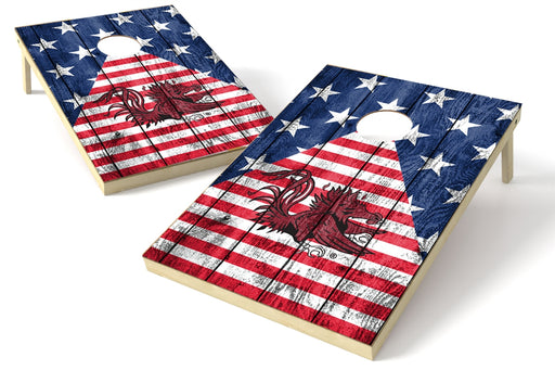 South Carolina Gamecocks 2x3 Cornhole Board Set - American Flag