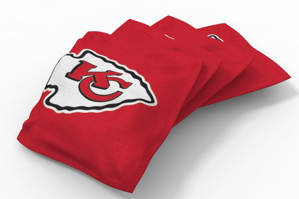 Kansas City Chiefs  Solid Bean Bags - 4pk