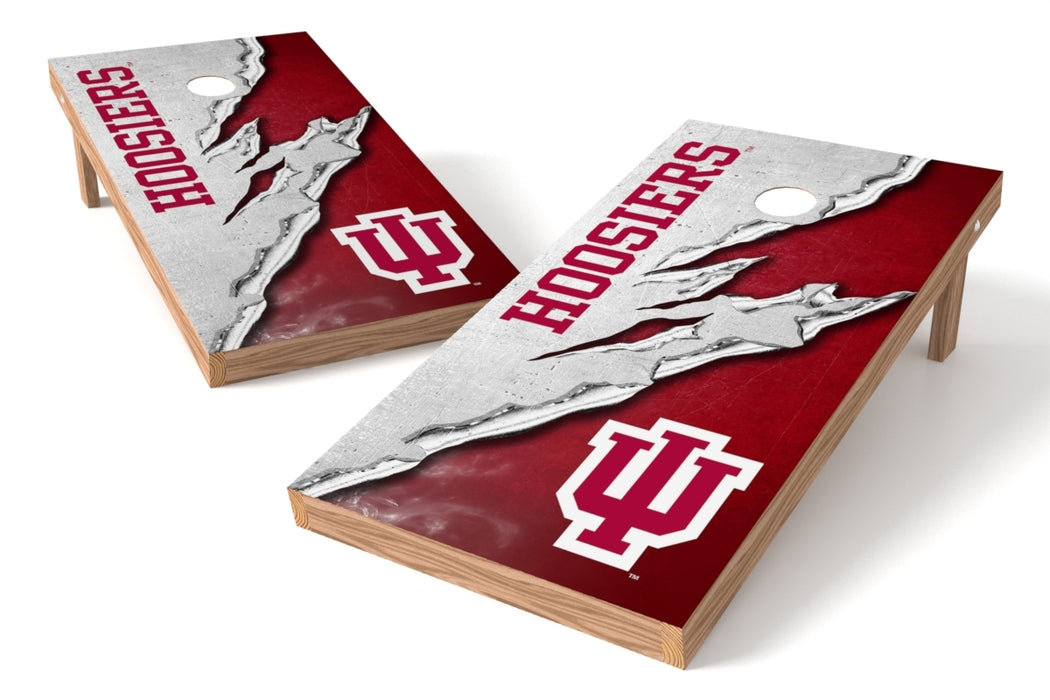 Indiana Hoosiers 2x4 Cornhole Board Set - Ripped