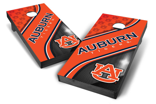 Auburn Tigers 2x4 Cornhole Board Set Onyx Stained - Swirl
