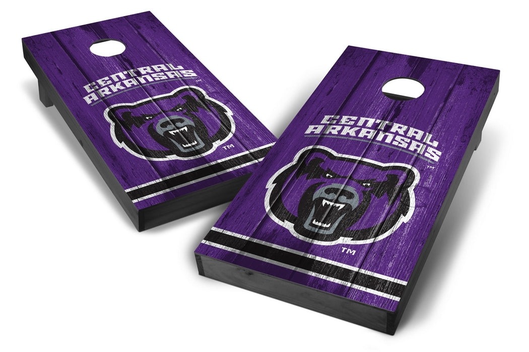 Central Arkansas Bears 2x4 Cornhole Board Set Onyx Stained - Vintage