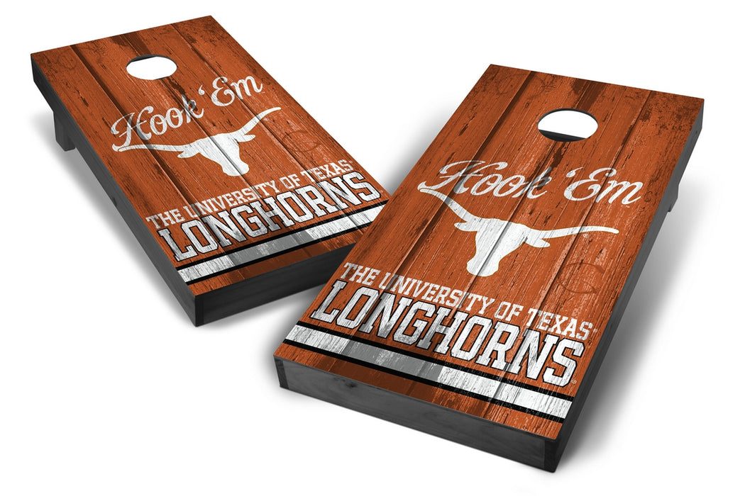 Texas Longhorns 2x4 Cornhole Board Set Onyx Stained - Vintage