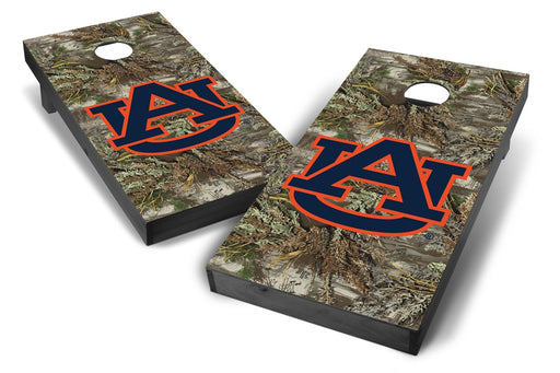 Auburn Tigers 2x4 Cornhole Board Set Onyx Stained - Realtree Max-1 Camo