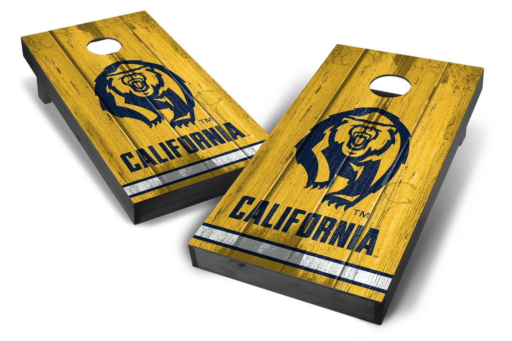 California Golden Bears 2x4 Cornhole Board Set Onyx Stained - Vintage