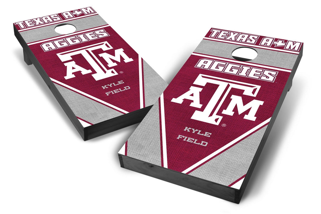 Texas A&M Aggies 2x4 Cornhole Board Set Onyx Stained - Burlap