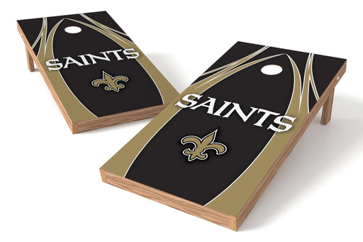 New Orleans Saints 2x4 Cornhole Board Set - Edge