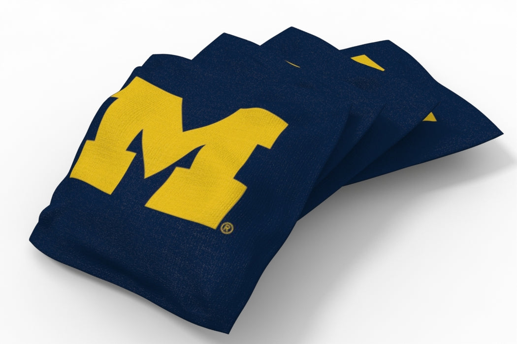 Michigan Wolverines 2x4 Cornhole Board Set Onyx Stained - Hot