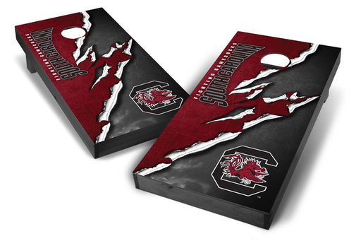 South Carolina Gamecocks 2x4 Cornhole Board Set Onyx Stained -  Ripped