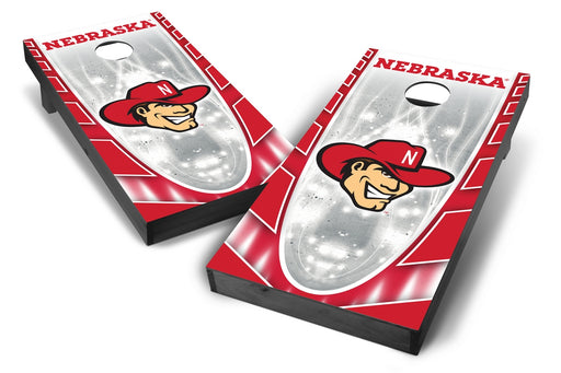 Nebraska Cornhuskers 2x4 Cornhole Board Set Onyx Stained - Hot