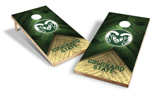 Colorado State Rams 2x4 Cornhole Board Set - Weathered