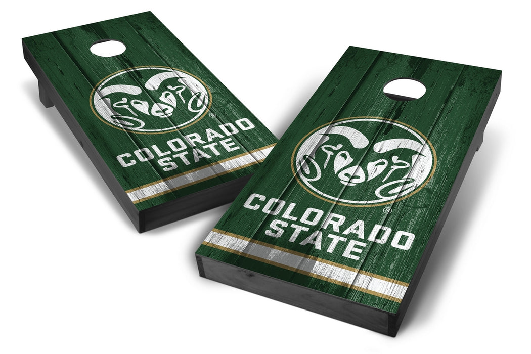 Colorado State Rams 2x4 Cornhole Board Set Onyx Stained - Vintage