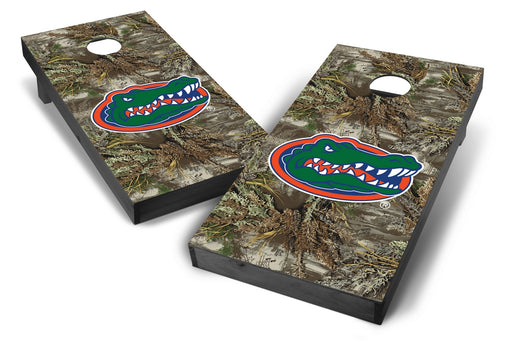 Florida Gators 2x4 Cornhole Board Set Onyx Stained - Realtree Max-1 Camo