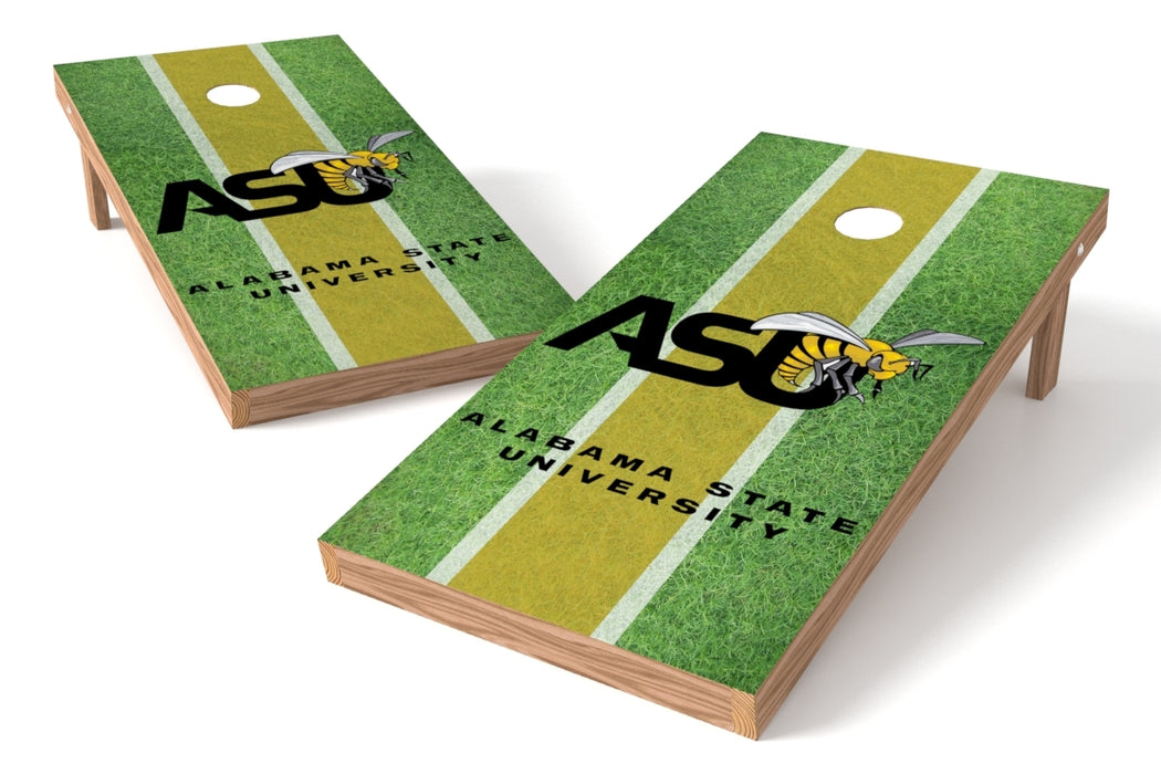 Alabama State U 2x4 Cornhole Board Set - Field