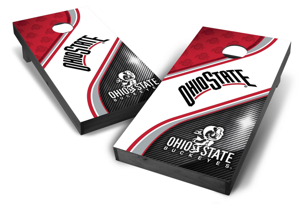 Ohio State Buckeyes 2x4 Cornhole Board Set Onyx Stained - Swirl