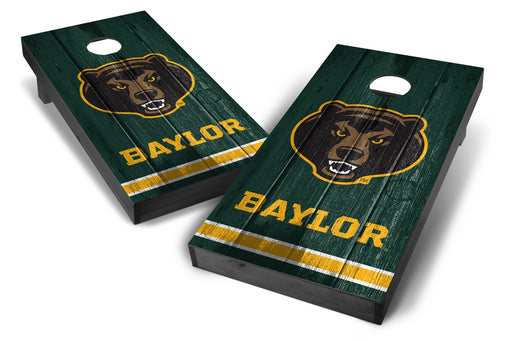 Baylor Bears 2x4 Cornhole Board Set Onyx Stained - Vintage