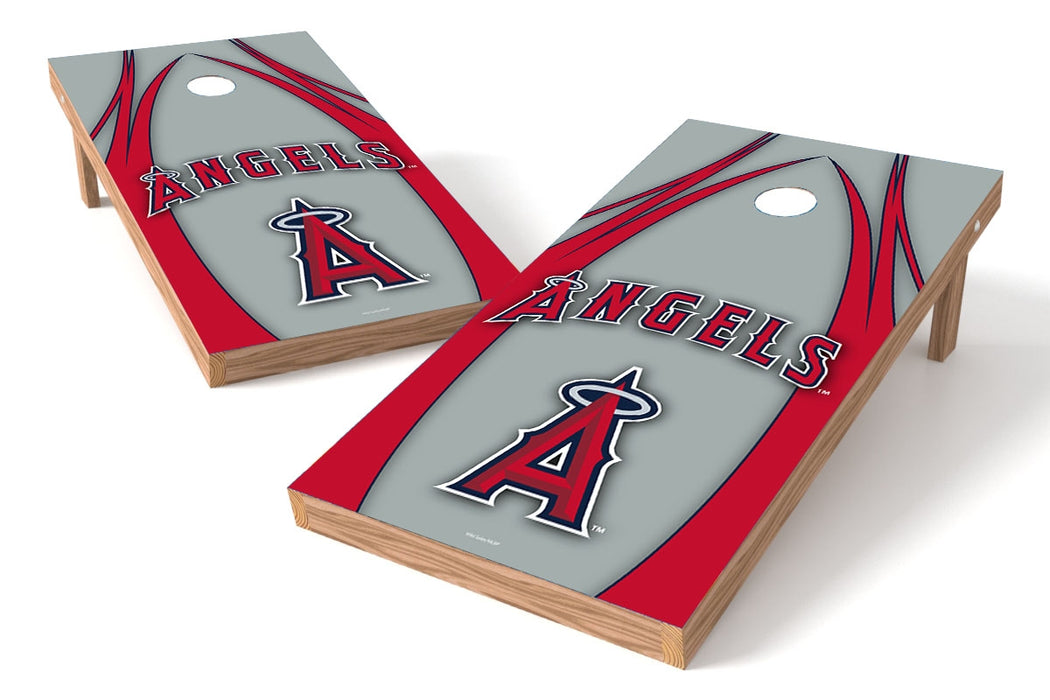 Los Angeles Angels of Anaheim 2x4 Cornhole Board Set - Edge