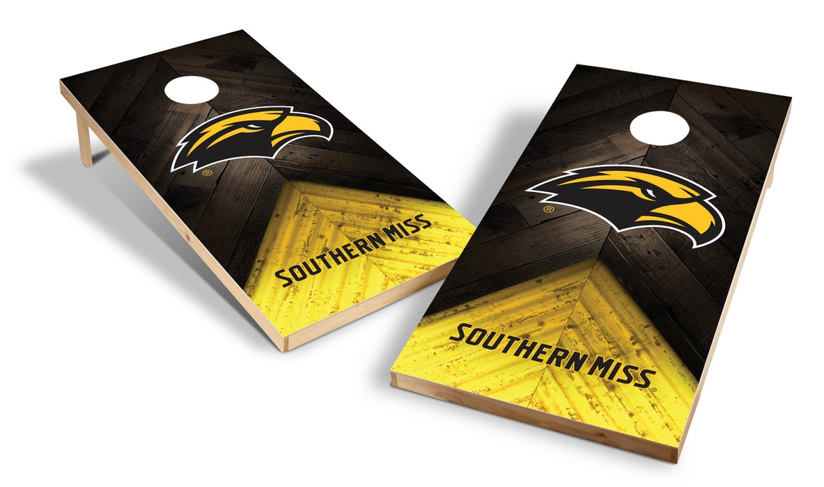 Southern Mississippi 2x4 Cornhole Board Set - Weathered