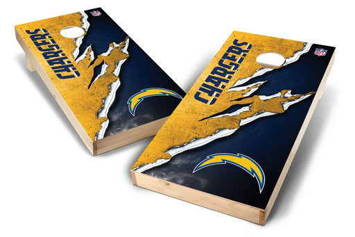 Los Angeles Chargers 2x4 Cornhole Board Set - Ripped