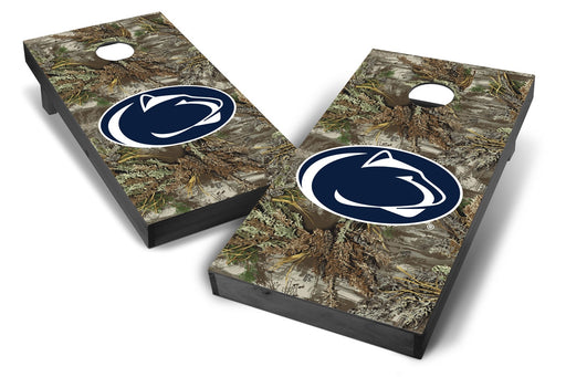 Penn State Nittany Lions 2x4 Cornhole Board Set Onyx Stained - Realtree Max-1 Camo