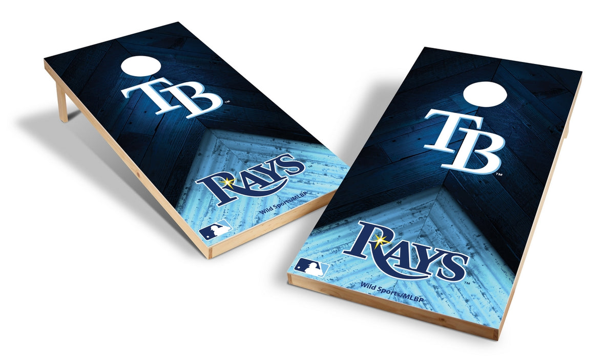 Tampa Bay Rays 2x4 Cornhole Board Set - Weathered
